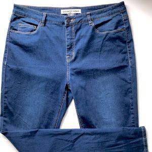 COUNTRY ROAD 14 Blue Cotton Denim Slim Fit Jeans